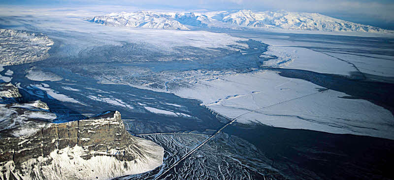 To see the glaciers of Iceland from the air is to appreciate the brutal forces of nature than exist on our