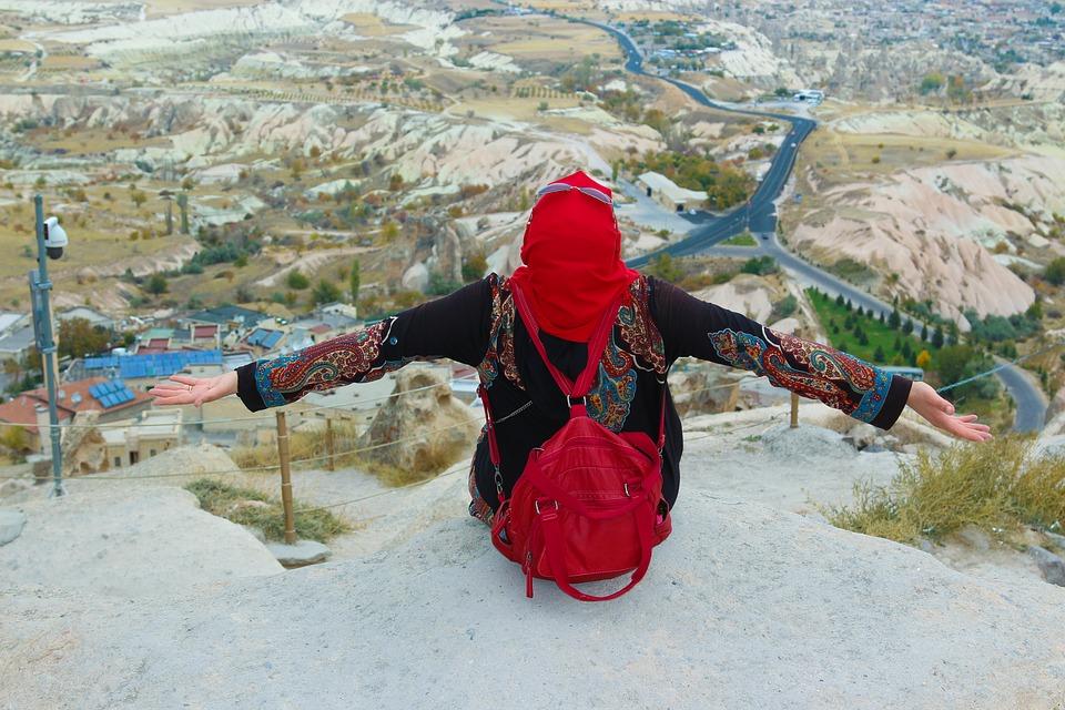 cappadocia, girl, landscape