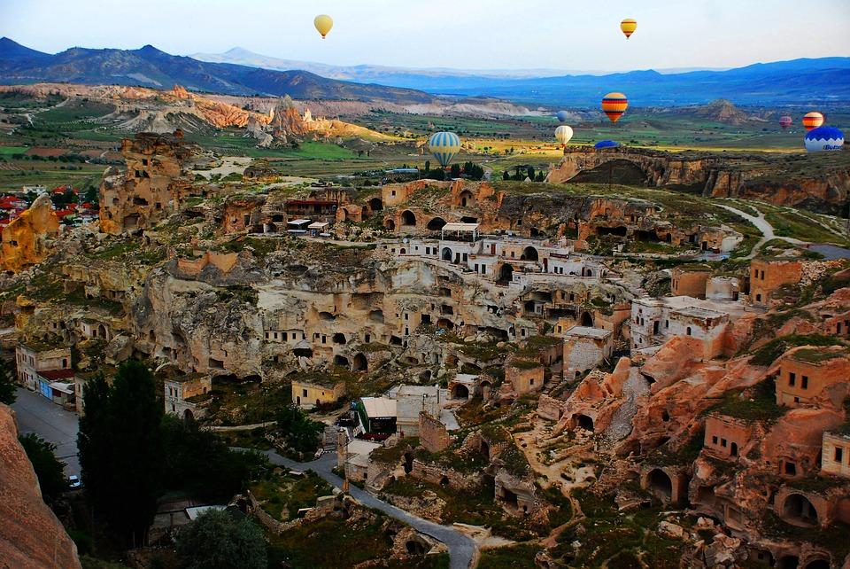 cityscape, baloon, cappadocia