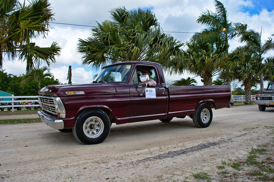 ford, antique, truck