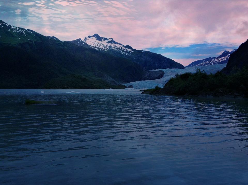 glacier, alaska, mendenhall