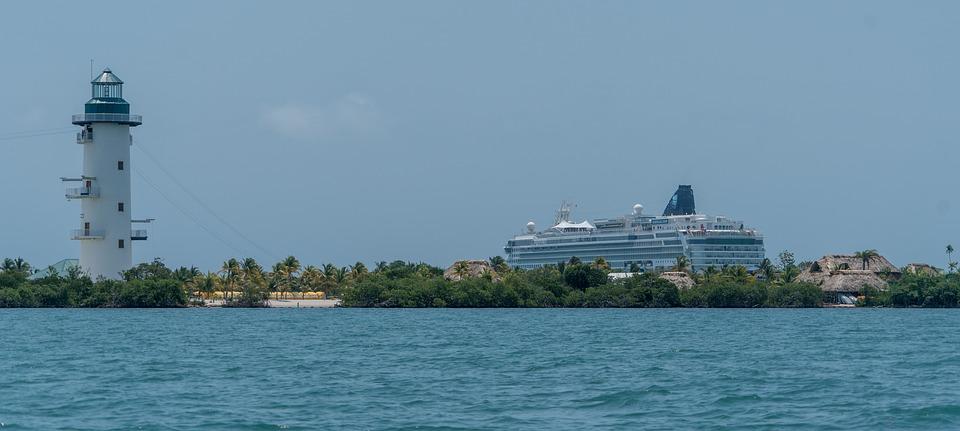 light house, cruise ship, belize