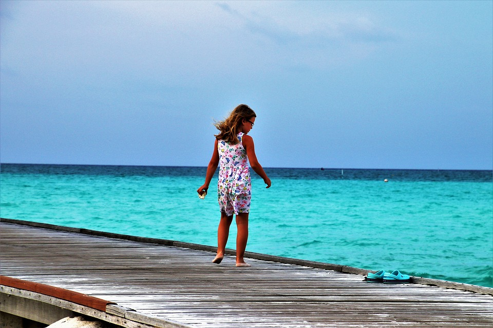 maldives, child, island