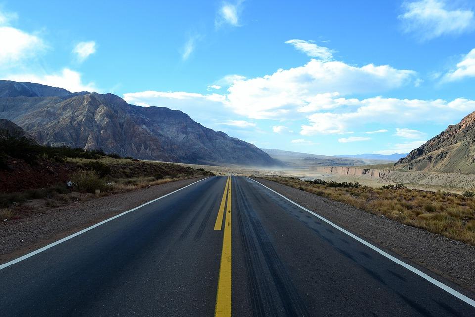 road, travel, mountain