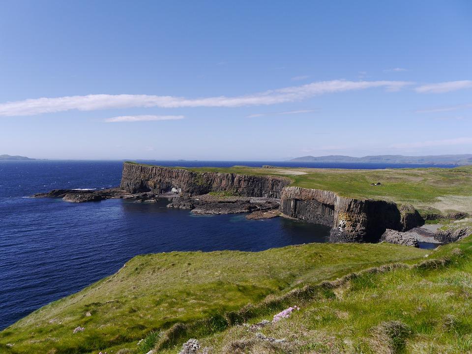 scotland, staffa, island