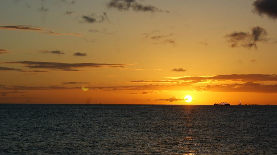 sunset, dawn, sun
