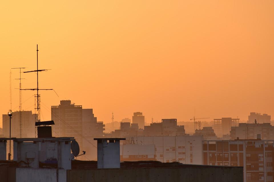sunset, evening, afternoon