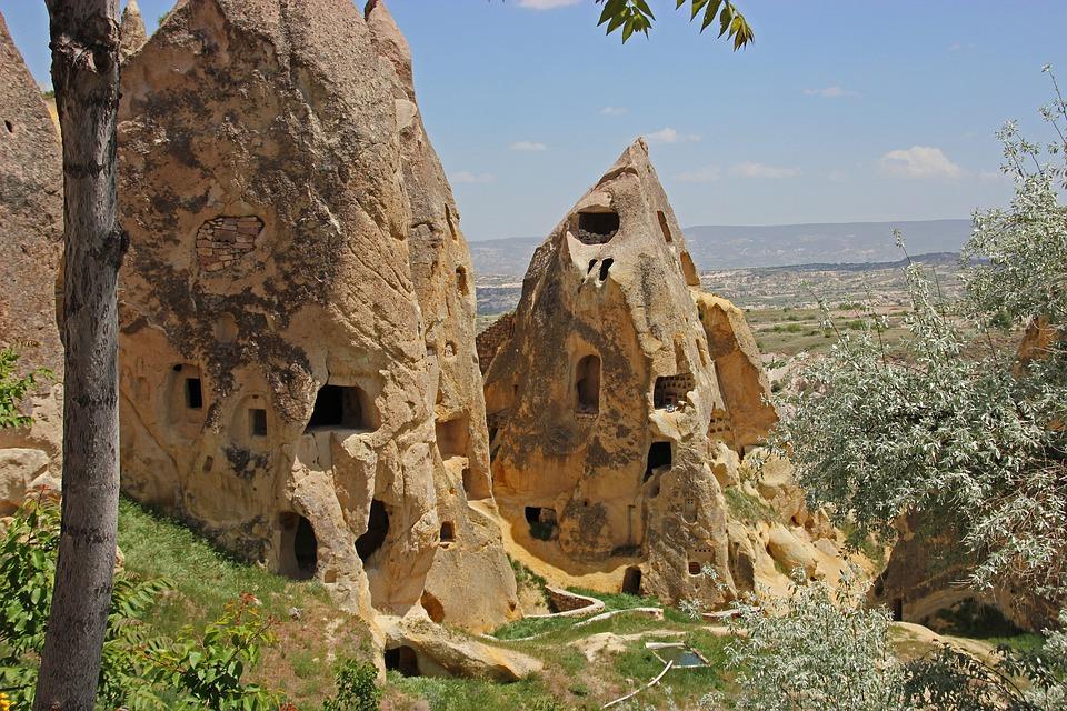 turkey, cappadocia, rock apartments
