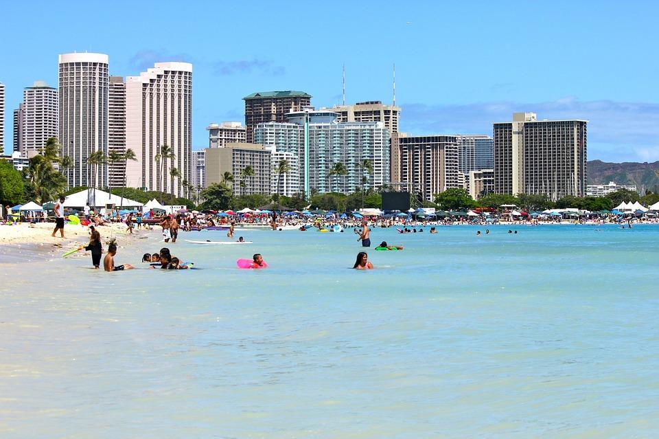 waikiki sunny beach travel hawaii oahu honolulu vacation summer ocean water people island tropical sky hawaii beach tourism tourist hawaii hawaii hawaii hawaii hawaii honolulu