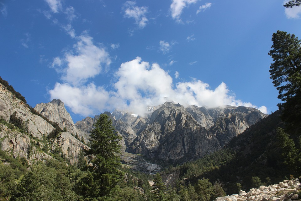 mountain, nature, sky