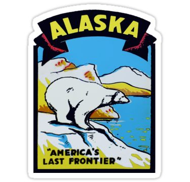 Alaska AK State Vintage Travel Decal Sticker