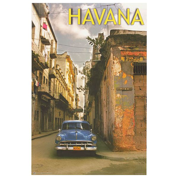 Havana Cuba Travel Poster 24x36