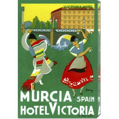 'Murcia Hotel - Valencia Spain' by Retro Travel Vintage Advertisement on Wrapped Canvas