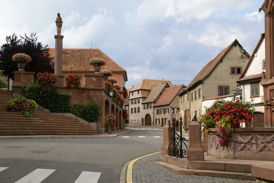 rue, france, alsace