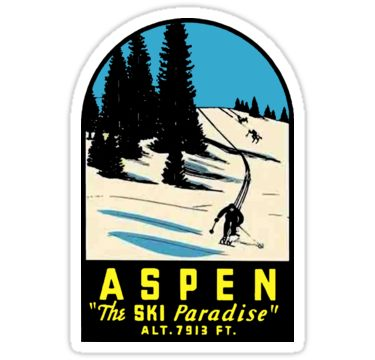 Aspen Colorado Vintage Ski Travel Decal Sticker