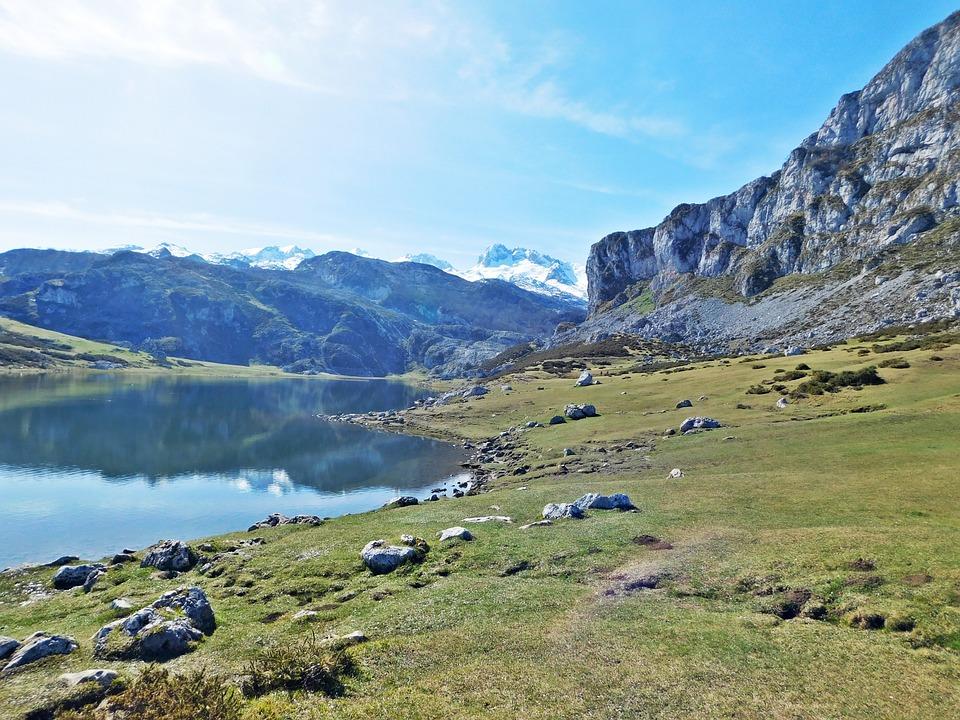 covadonga, lake, mon