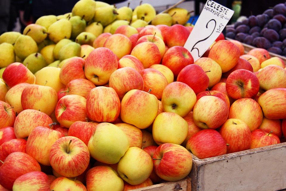 apple, fruits, fresh