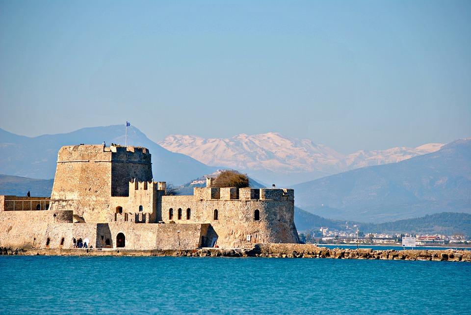 castle, greece, nafplion