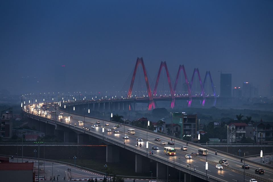 hanoi, nhat tan bridge, vietnam