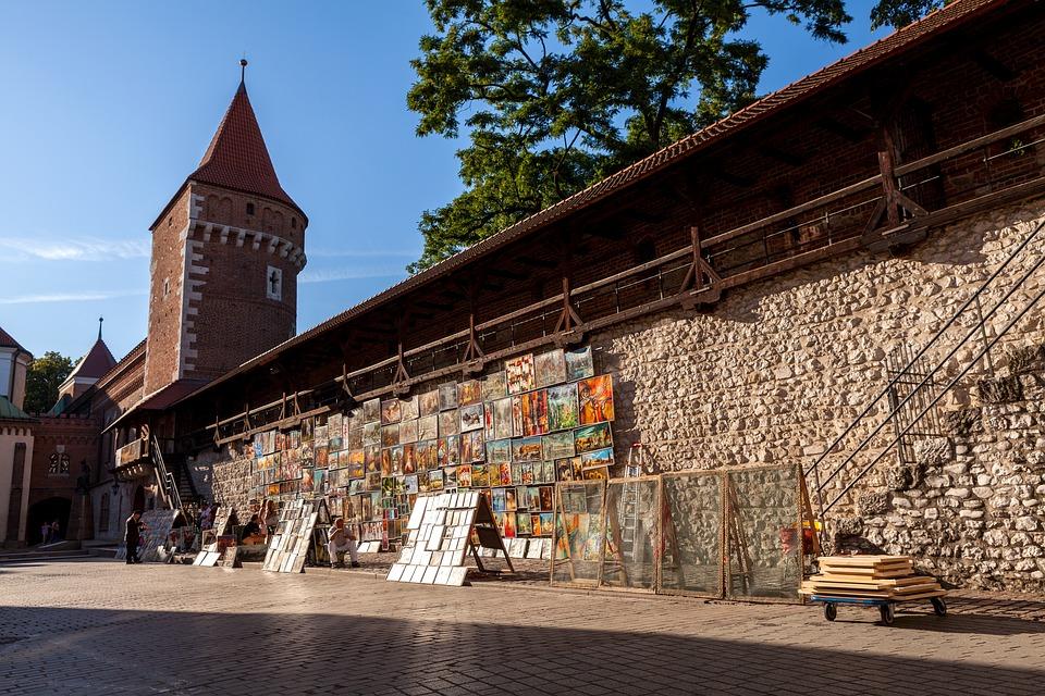 krakow, wall, historically
