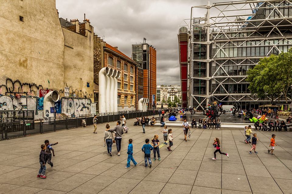 paris, centre pompidou, france
