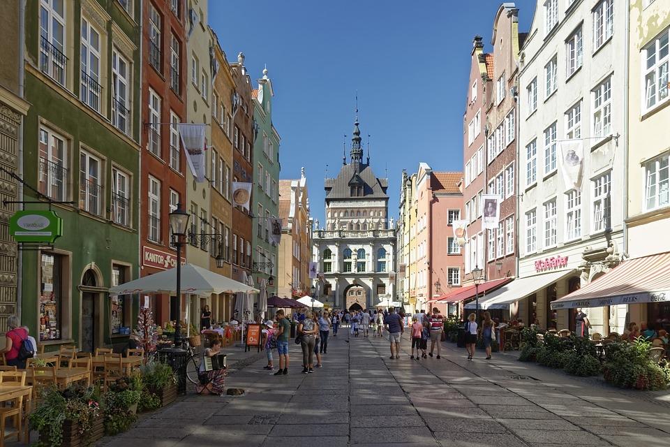 poland, gdańsk, historic center