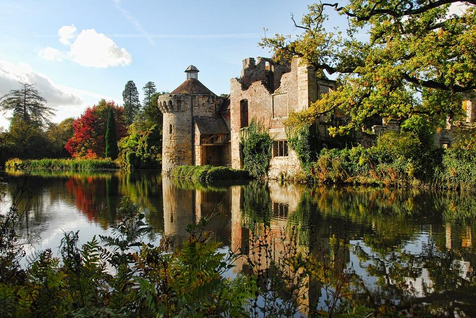 scotney castle, castle, kent