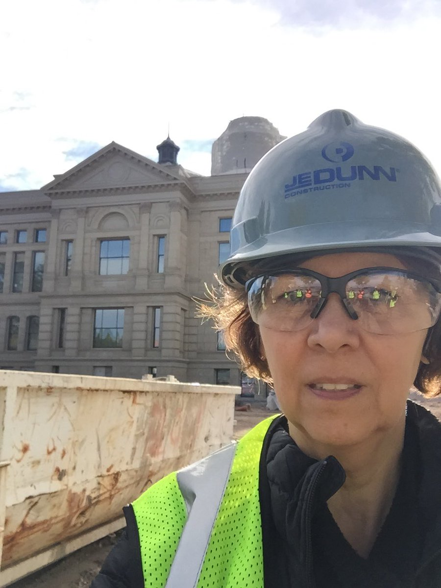 Touring the #Wyoming State Capital that is under restoration. #ThatsWY...