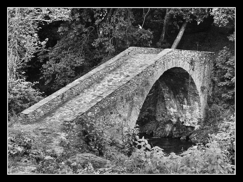 bridge, old, antique