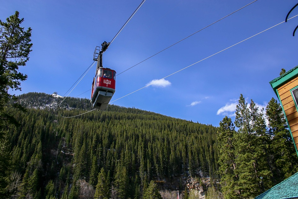 cable car, jasper, rocky mountains