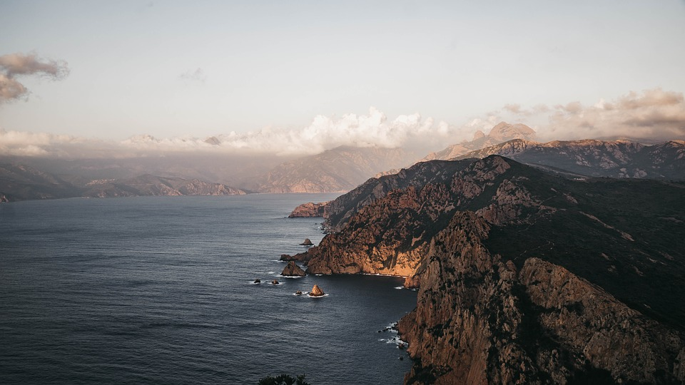 corsica, sea, landscape