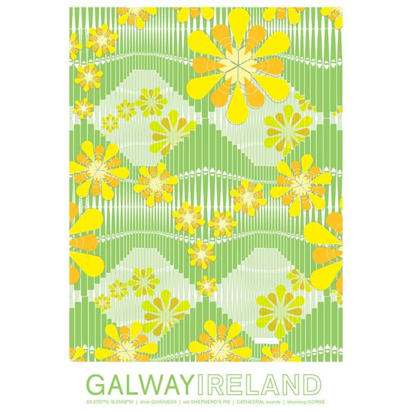 "Galway, Ireland Travel Poster, 8""x10"""
