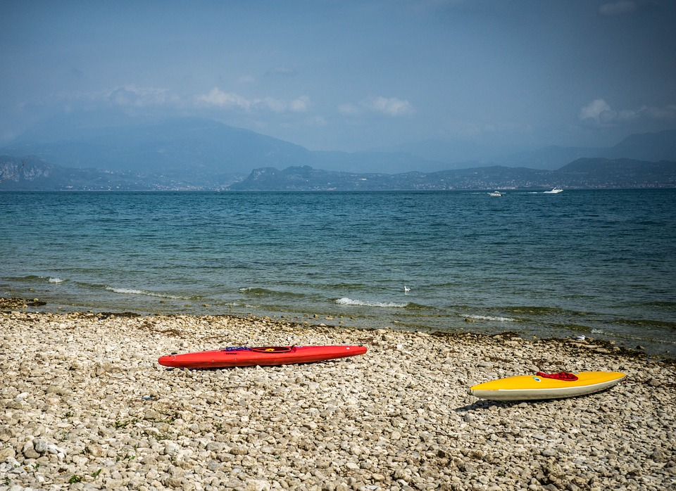 lake garda, italy, beach