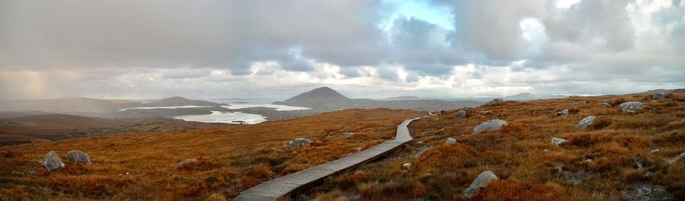 panorama, landscape, ireland
